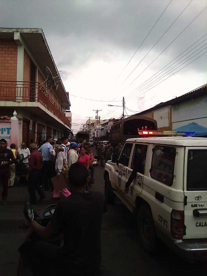 Fuerzas policiales tomaron las calles de Calabozo, estado Guárico.