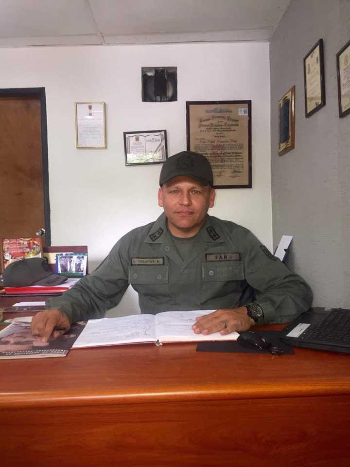 La información fue ofrecida por el comandante del D342, Teniente Coronel Luis Casanova Abad