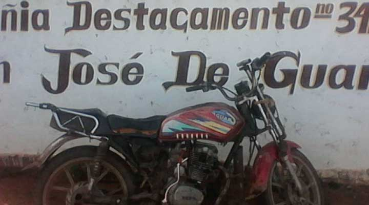 La moto fue retenida por presentar serial del chasis devastado
