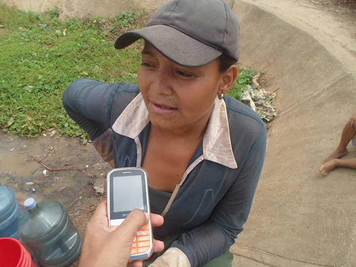 María Flores indico que en José Félix tienen más de 7 años sin agua
