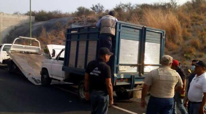 nivel mundial. En la imagen el camión donde dejaron los nueve cadaveres.