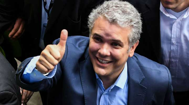 Ivan Duque resulto vencedor en estos comicios obligando a una segunda vuelta y solo faltando un 10% de los votos para llegar al 50%