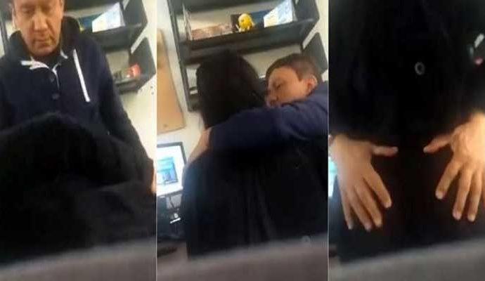 La chica fue acosada de manera sexual por el profesor.