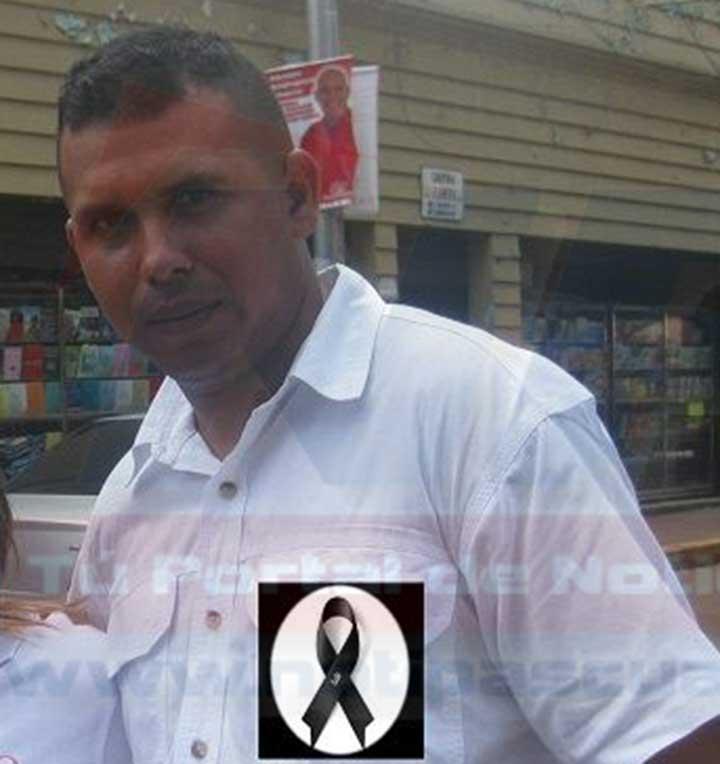 Edgar Luyano de 38 años. Residenciado en la calle 4 del sector Las Garcitas.