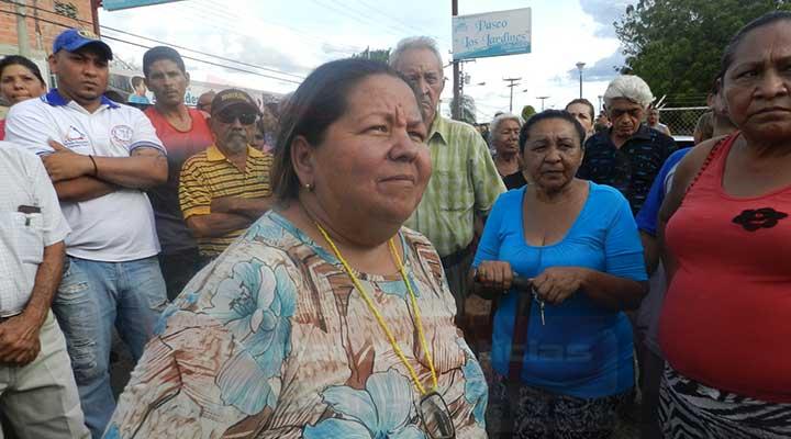 Representante del Consejo Comunal de Carlos Pérez identificada como Yomaira Coa
