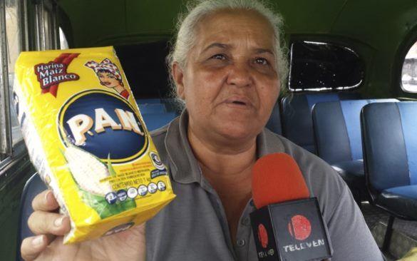María Américo, propietaria de uno de los trasportes.