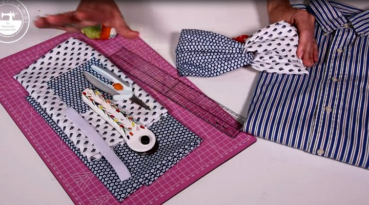Materiales necesarios para hacer el turbante diadema