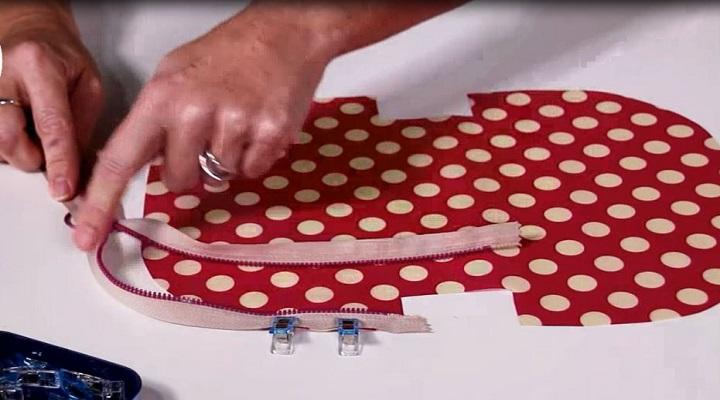 coser la cremallera parte exterior