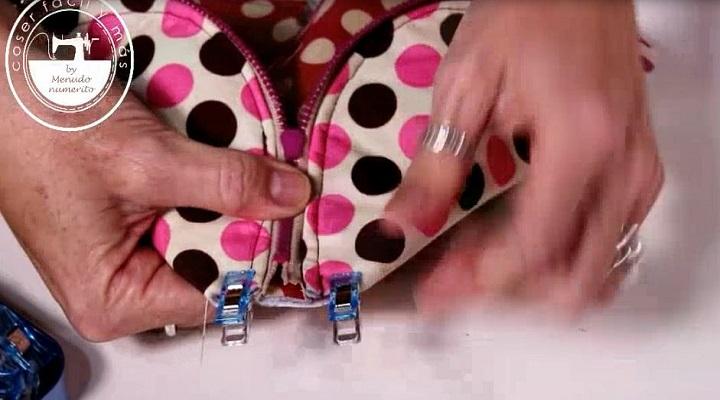 coser espacios del fondo