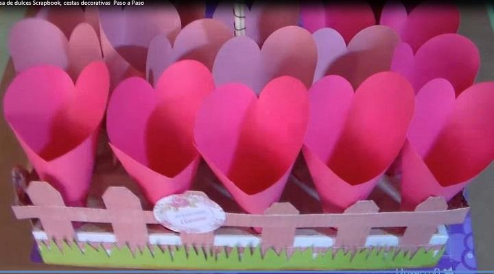 lista la cesta decorativa porta conos con cotufas
