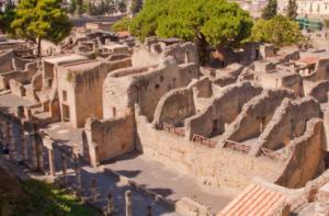 Herculano devastado por el Vesubio