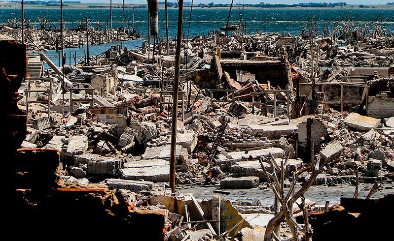 Epecuen, pueblo fantasma en Argentina