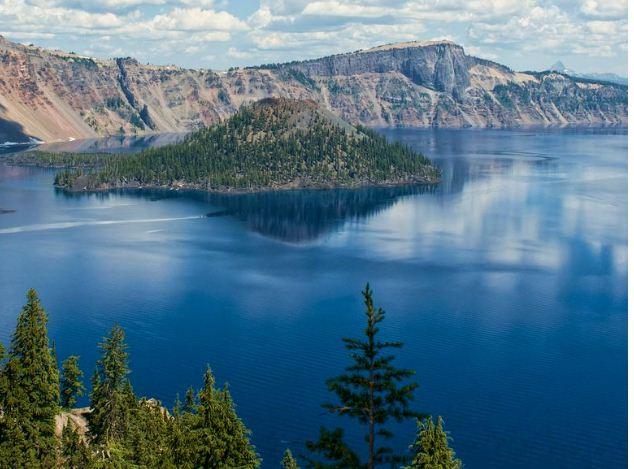 Lago Cráter, aguas cristalinas