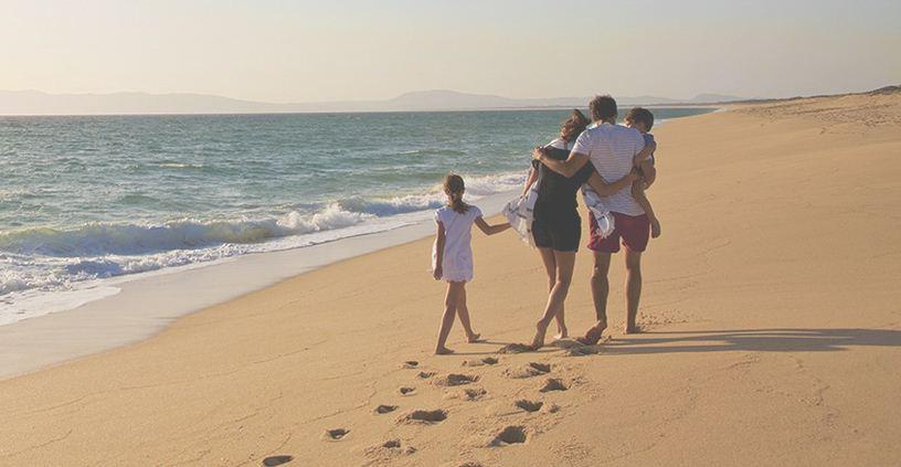 Caminar en la arena, privacidad en Troia