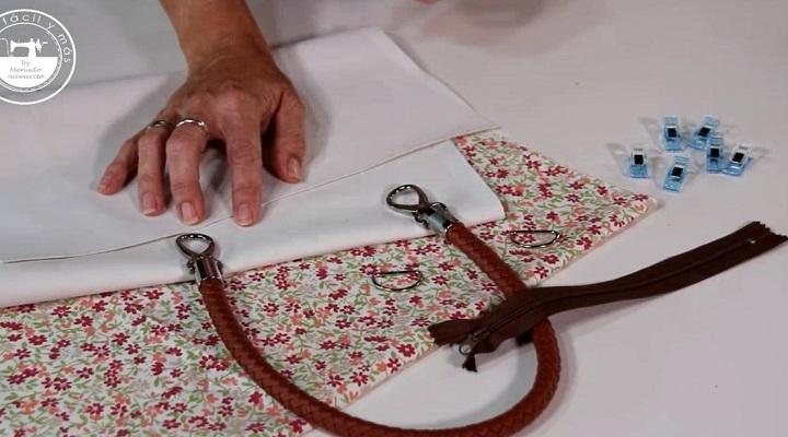Materiales a utilizar en Carlota Bolso con Patrón Gratis