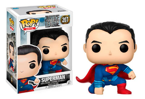 El Funko de Superman, el hombre más fuerte del mundo y miembro de la Liga de la justicia.