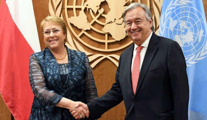 Michelle Bacheletes la nueva alta comisionada de derechos humanos de la ONU