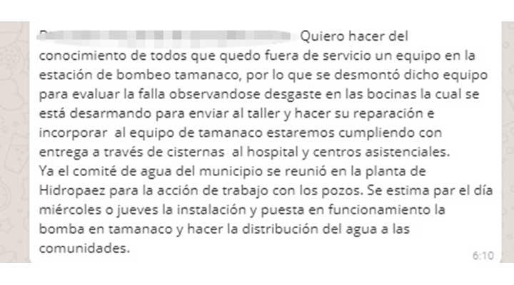 Información aportada por la Lic. Anay Mejias, jefe de prensa de la Alcaldia del municipio Infante.