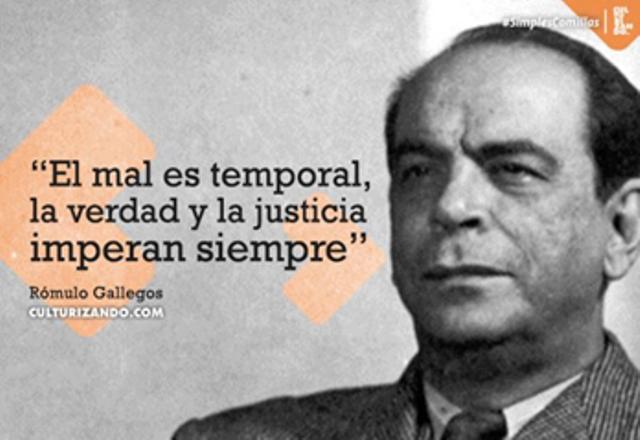 Natalicio de Don Rómulo Gallegos.