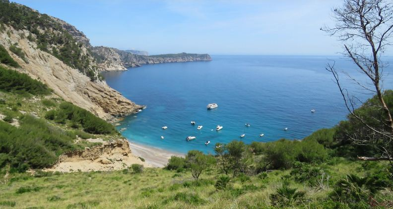 La playa de Coll Baix, en el cabo Pinar