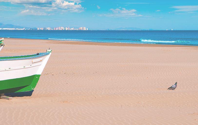 playas en cuadros impresinistas