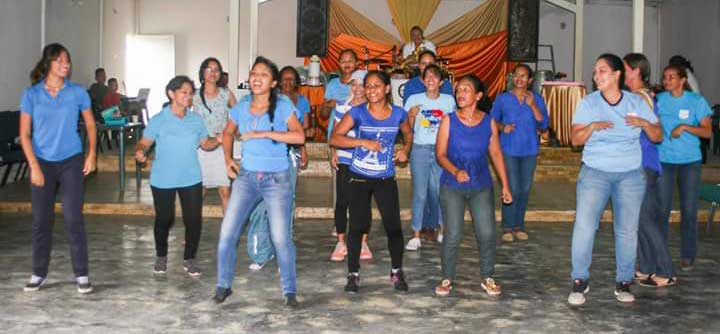 Durante la celebracion se presentaron diversas coreografías