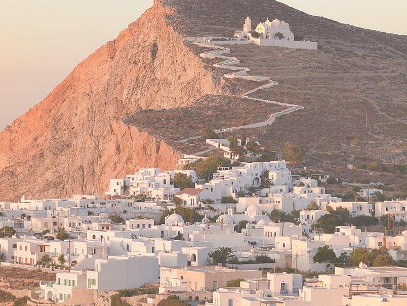 Folengandro en Grecia, una de las Cicladas.