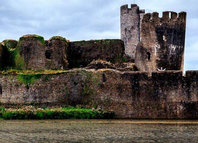 Castillo de Caerphilly en Gales.