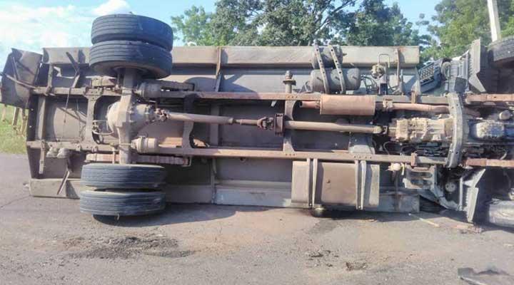 El camión es perteneciente al programa gubernamental Barrio Nuevo Tricolor.
