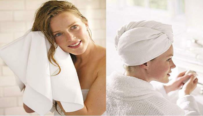 Puedes utilizar una toalla para secarte