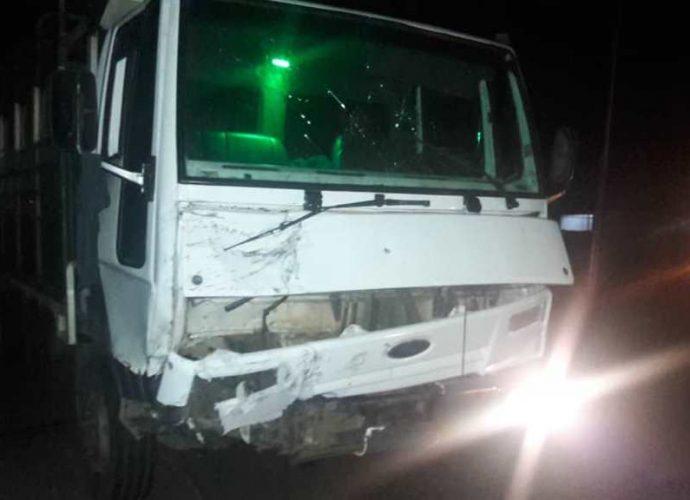 Camión de carga involucrado en el accidente.