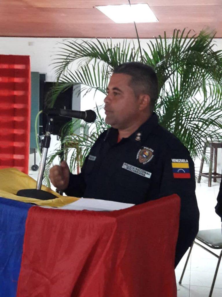 Comisionado Ruben Montenegro, jefe de la zona Sur del estado Guárico