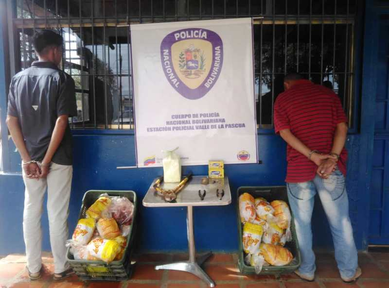 Los dos sujetos fueron capturados cuando robaban en las instalaciones del Club Cadafe de Valle de la Pascua.