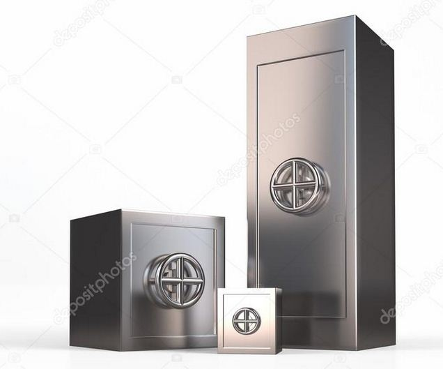 Cajas de seguridad y cajas fuertes.