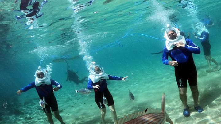 Experiencia fantástica, el senderismo submarino