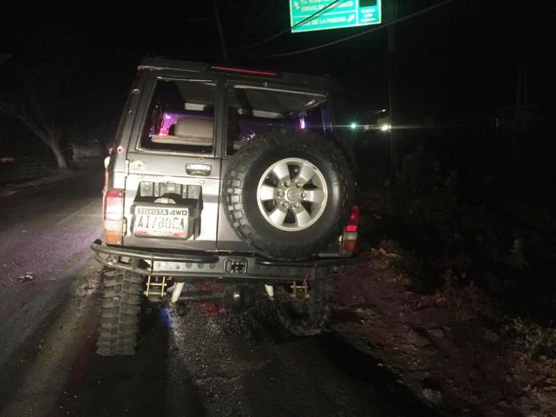 Funcionarios lograron recuperar el vehículo.
