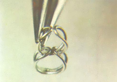 Como hacer cadenas de plata bisuteria fina espiral metal
