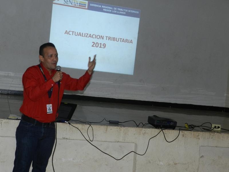 Fiscales del Seniat dictaron clase magistral en cuanto a Actualización Tributaria se refiere.