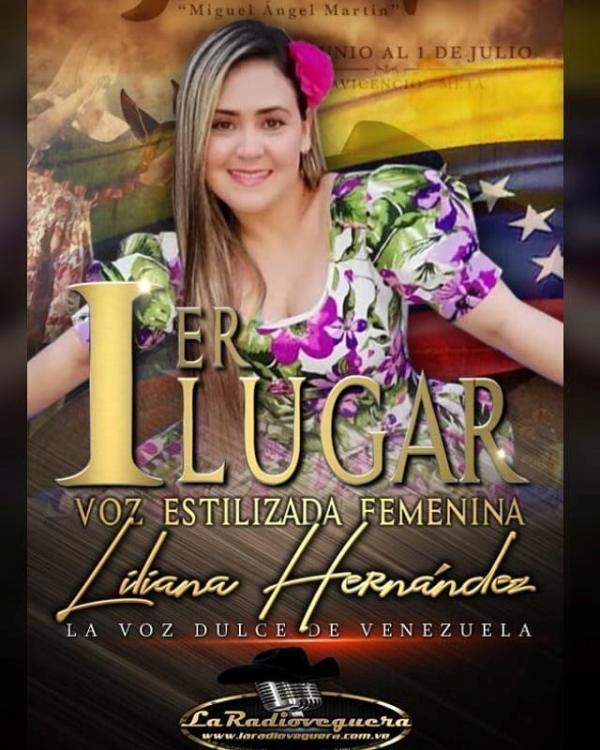 Liliana Hernández, de Portuguesa, primer lugar en Voz Estilizada Femenina.