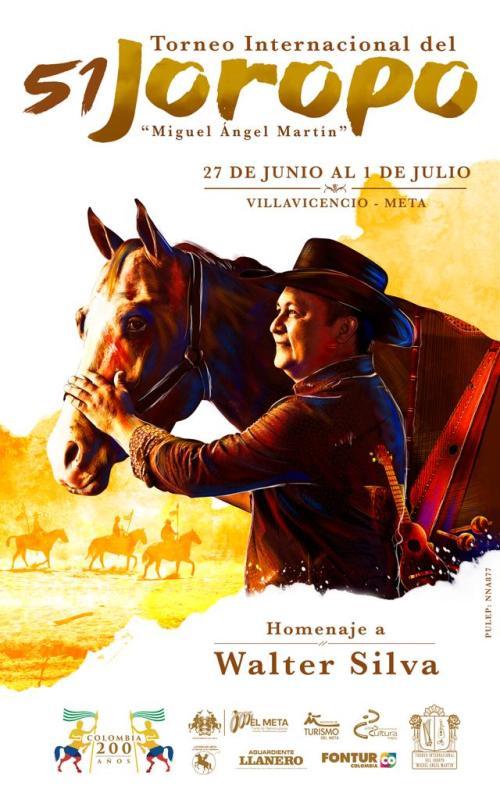 Walter Silva es homenajeado en la edición 51 del afamado festival llanero.