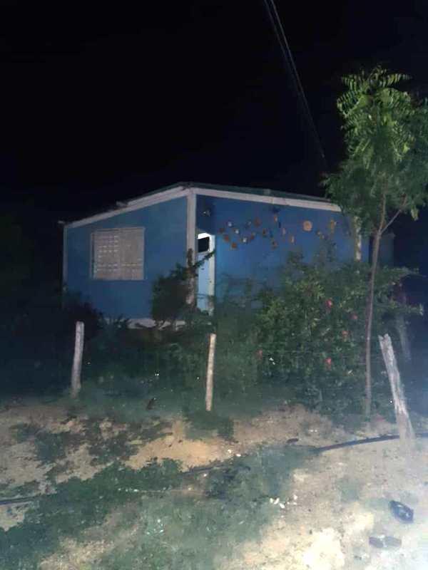 Dentro de esta vivienda fueron encontrados varios objetos robados.