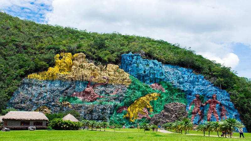 El mural de la prehistoria en Cuba