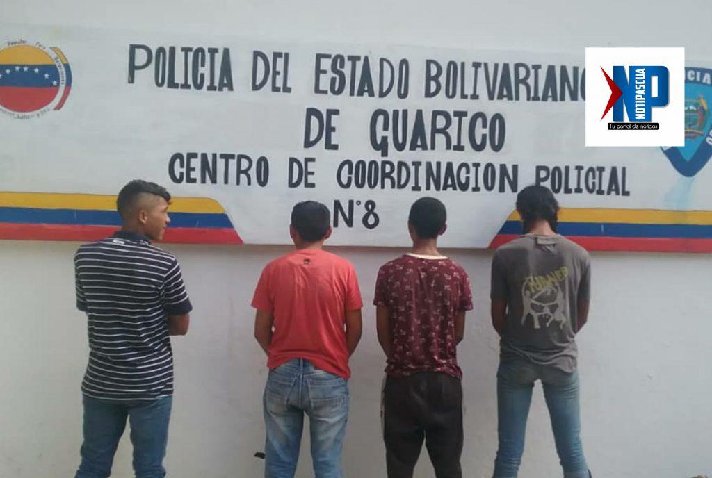 Cuatros personas resultaron detenidas por los cuerpos policiales.