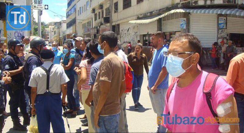 Pacientes renales protestaron en San Juan de los Morros. Foto: Tubazo Digital