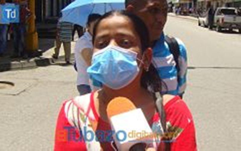Maryelis Perez, una de las pacientes renales afectadas. Foto: El Tubazo Digital.