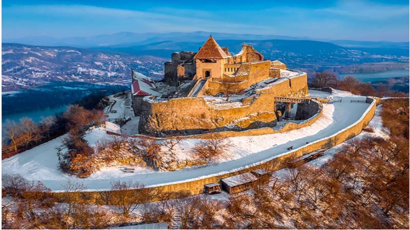 Visegrad la mejor vista del cauce del Danubio