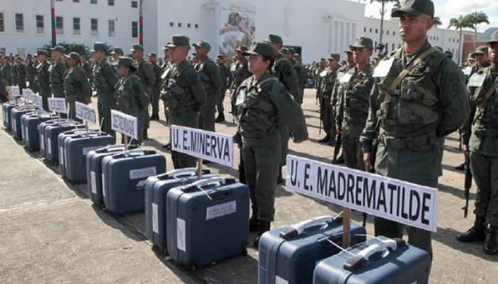 Milicianos y militares garantizarán la custodia de los centro electorales en todo el territorio nacional