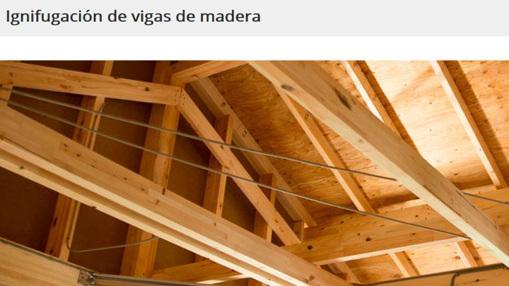 ignifugado vigas madera