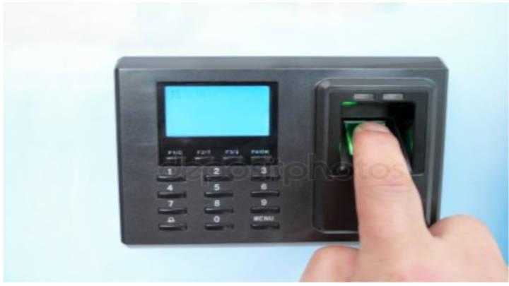Sistema de control de acceso con la huella dactilar