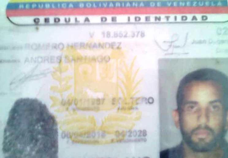 Romero Hernandez Andres Santiago murió de manera inmediata